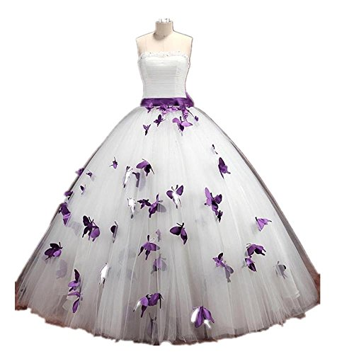 Ball Gown Organza butterfly Wedding Dresses Bride Gown Dresses Customize