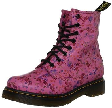 Dr. Martens 1460 Little Flowers Acid Pink 11821653, Damen Stiefel, Pink (Acid Pink), EU 36 (UK 3)