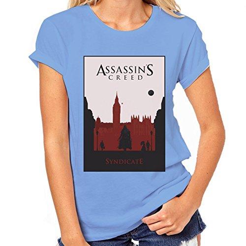 Assassin's Creed Syndicate-Maglietta classica da donna blu XXL
