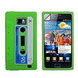"""Stilvoll Gr�n Blau Und Wei� Retro Kassette Cassette Tape Muster Silikon Schutzh�lle F�r Samsung Galaxy S2 i9100 Mit Displayschutzvon """"Yousave"""""""