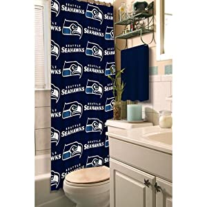 Shower Curtain Bathroom Waterproof Polyester Fabric Random Pattern /& Hook GS