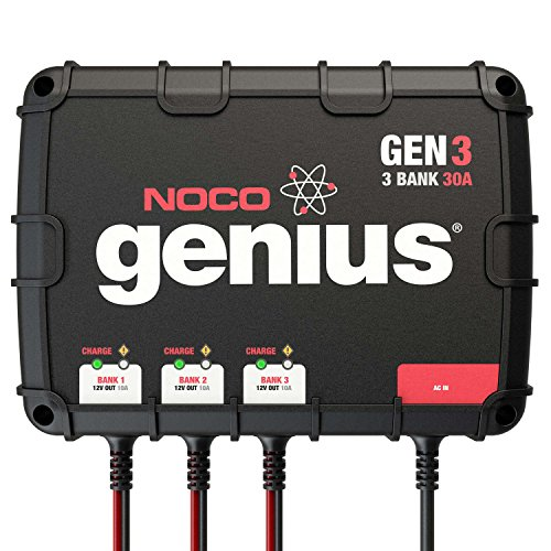 NOCO Genius GEN3 30 Amp 3-Bank Waterproof Smart On-Board Battery Charger