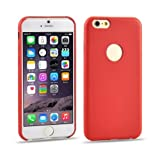 0.3mm Ultrathin PU Leather Back Cover Protective Case for iPhone 6 Plus(Red)