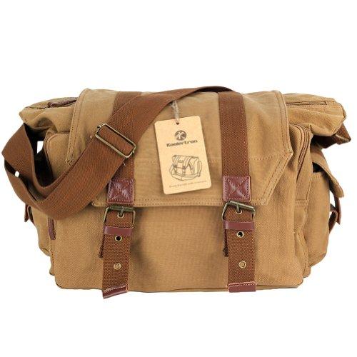 16d570332a Koolertron Canvas DSLR SLR Camera Shoulder Bag Backpack Rucksack Bag For  Sony Canon Nikon Olympus  Sale - Pack Moose Munch