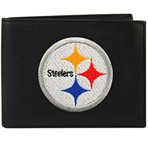 Pittsburgh Steelers Embroidered Leather Bi-Fold Wallet from Rico