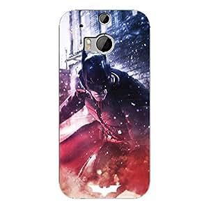 EYP Superheroes Batman Dark knight Back Cover Case for HTC One M8
