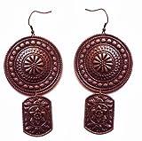 Molcha Engraved Vintage Metal Earrings For Women _8042