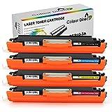 4 X ColourDirect CE310A CE311A CE312A CE313A 126A Laser Toner Patronen für HP Colour Laserjet CP1025 CP1025NW CP1020 M175a M175nw Pro 100 M175 MFP M175A M175NW M275 TopShot M275