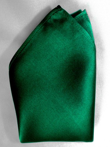 Creamy Satin Silk Handkerchief By Royal Silk - Dark Green - 100% Silk front-882403