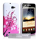 Coque Samsung Galaxy Note Rose / Blanc Silicone Gel Floraux Abeille Houssepar Yousave Accessories