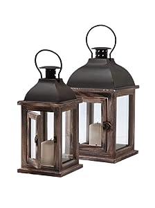 Kare 2 lanterne in legno modello sea breeze for Lanterne in legno