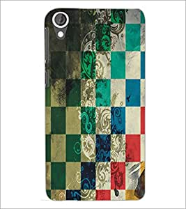 PrintDhaba Pattern D-5455 Back Case Cover for HTC DESIRE 820 (Multi-Coloured)