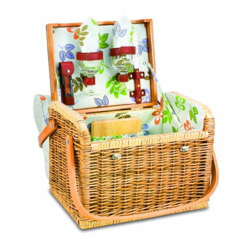 Picnic Time Kabrio Wine Basket, Botanica back-609923