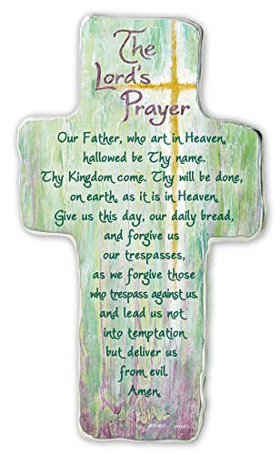 Cathedral Art SIM154 Lord's Prayer Art Metal Cross, 6-Inch
