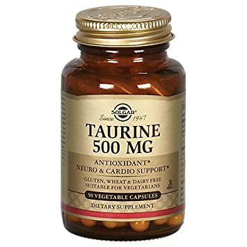 Taurine (Free Form) 500 MG (vegan) 50 veg. Kaps. SO (vegan) (83605)