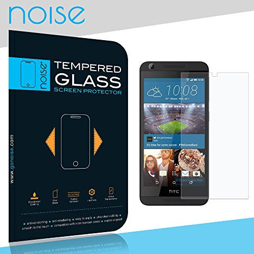 Noise COMBO OFFER HTC Desire 626 / 626G Plus Tempered Glass screen Protector + Transparent Soft Silicon Flexible TPU Back Case Cover (Tempered Glass)  available at amazon for Rs.139