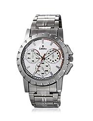 Calvino Men's White Dial Watch CGAC-147019AT-White