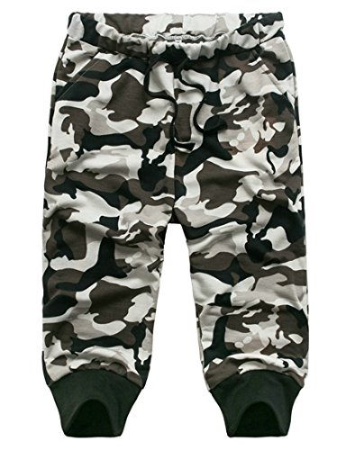 Generic Mens Camouflage Elastic Waist Jogger Harem 3/4 Short S White Button Down Camouflage Shorts