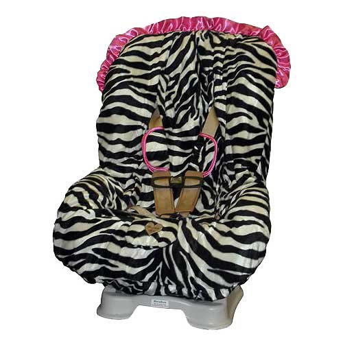 Baby Bella Maya Pink Zebra Toddler Car Seat Cover