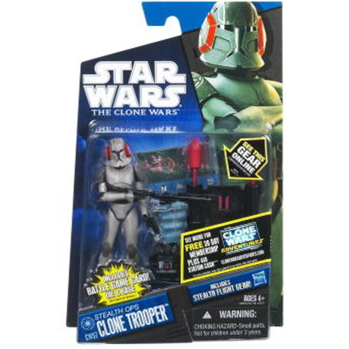 Buy Low Price Hasbro Star Wars The Clone Wars Animated 3 3/4″ Stealth Ops Clone Trooper Action Figure (B00522XP8U)