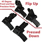 AR15 AR 15 Front and Rear flip up 45...