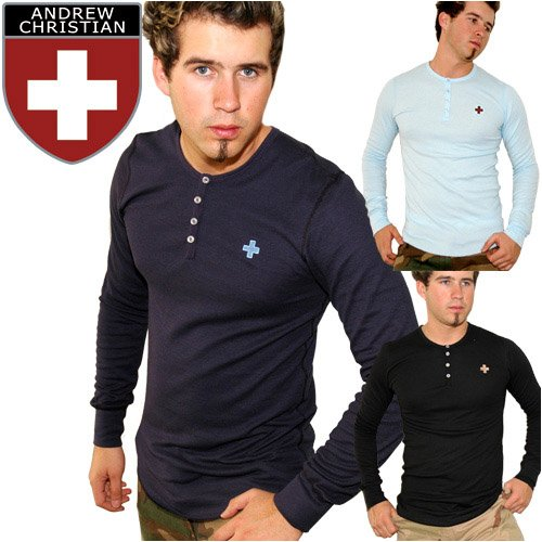 Buy Andrew Christian Cross Henley Thermal