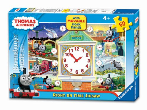 Thomas & Friends Right on Time Puzzle with Movable Clock Hands, 60-Piece
