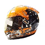 THH Bull Dog Full Face Helmet (Orange)