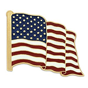 American Flag Lapel Pin Proudly Made in USA,Pack of 5