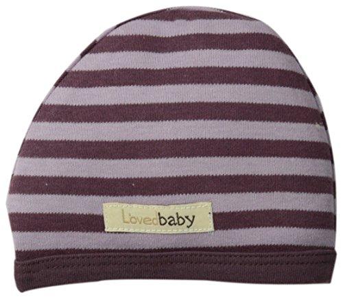 L'Ovedbaby Unisex-Baby Organic Cute Cap, Lavender/Eggplant, Newborn front-820155