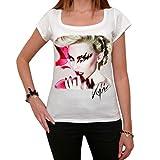 Kylie Minogue camiseta para mujer,mujeres,blanco T-shirt,regalo