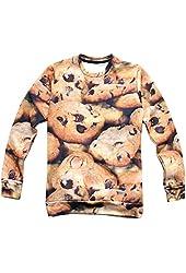 Women's Print 3D Sweater Cookies Pullover Hoodies Sweatshirt