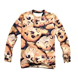 Women's Print 3D Sweater Cookies Pullover Hoodies Sweatshirt