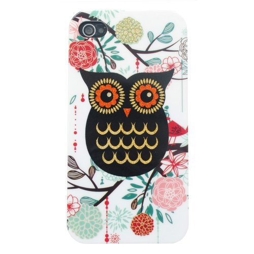 Meaci Apple Iphone 5 5S Case Soft Smooth Tpu Material With Classic& Unique Owl Glitter Shimmering Bling Powder Pattern (Owl-Ii)