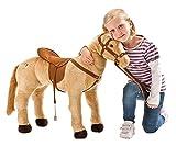 Toy - Happy People 58410 - Pferd mit 3-fach Sound, beige, stehend, Tragkraft ca. 100 kg
