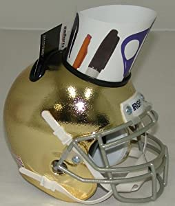Notre Dame Fighting Irish Alternate Textured Gold NCAA Football Helmet Desk Caddy by Schutt
