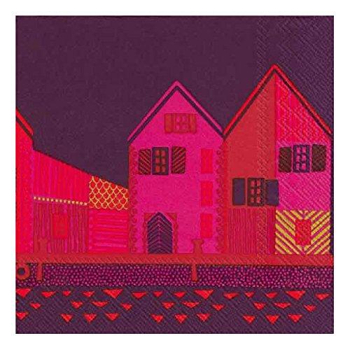 marimekko-finnish-designer-vanhakaupunki-dark-purple-houses-luxury-traditional-paper-table-napkins-2