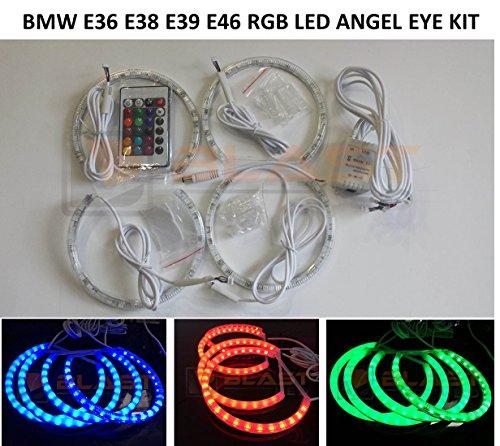 96 Smd Rgb Bmw Led Angel Eyes Halo Kit Multi-Color For 3,5,7 Series E36 E38 E39 E46 M3