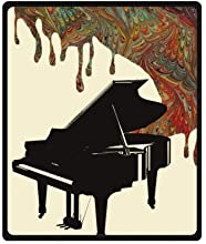 Trippy Art Music Pattern Retro Piano Music Art Fleece BlanketMs Right Sale For Cheap Throw Blanket -