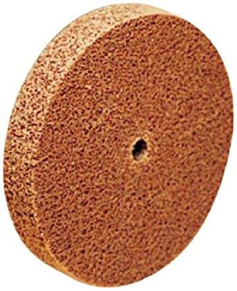 "Scotch-Brite Cut and Polish Unitized Wheel, Aluminum Oxide, 1"" Diameter x 1"" Width, 7A Medium Grit, 35100 rpm, 3/16"" Arbor (Pack of 50)"