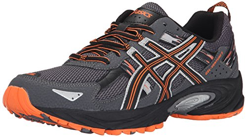 ASICS Men's GEL Venture 5 Running Shoe, Carbon/Black/Hot Orange, 12 M US