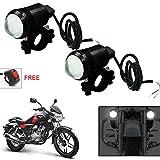 #4: Vheelocityin U1 LED Motorycle Fog Light Bike Projector Auxillary Spot Beam Light (Black, 2Pc) For Bajaj V15