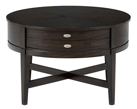 Jofran Kent County Miniatures Round Coffee Table in Dark Oak