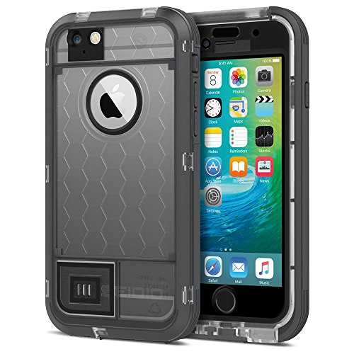 Seidio OBEX Waterproof Case for the iPhone 6/6S [Drop Proof] [Everyday Protection]- Retail Packaging – Frost