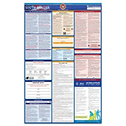 2016 South Dakota Labor Law Poster - State & Federal Compliant - Laminated