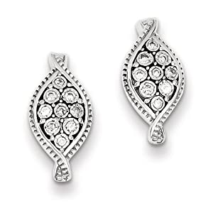 Sterling Silver Diamond Post Earrings