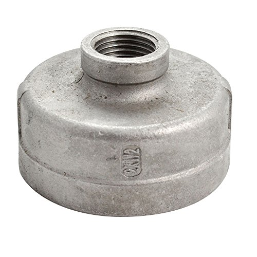 SuperWhole-2x12Female-Nipple-Threaded-Reducer-Pipe-Fitting-Stainless-Steel-304-NPT-NEW