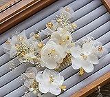 髪飾り 和装にも 結婚式 ティアラ ヘッドアクセサリー フラワーヘッド 花冠 アクセサリー 花嫁 ウェディング ヘッドドレス ドレス カチューシャ コサージュ