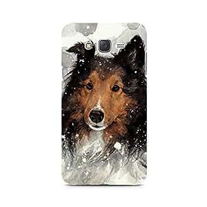 MOBICTURE Dog Premium Designer Mobile Back Case Cover For Samsung J1 Ace