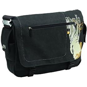 Caselogic SNMB-15 15.4-Inch Canvas Messenger Bag with Laptop Storage (Dark Gray)